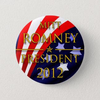 Bóton Redondo 5.08cm Botão presidencial de Mitt Romney 2012