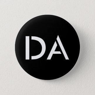 Bóton Redondo 5.08cm Botão preto clássico da Dinamarca