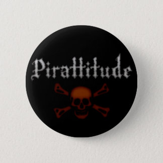 Bóton Redondo 5.08cm Botão preto de Pirattitude