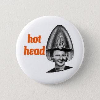 Bóton Redondo 5.08cm Botão principal quente do cabeleireiro