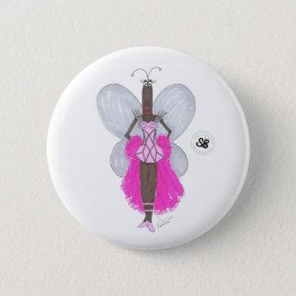 Bóton Redondo 5.08cm Botão Pseudo da forma de Geo do rosa Pastel da
