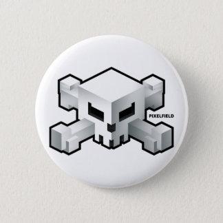 Bóton Redondo 5.08cm Botão radical do logotipo do crânio do jogo | de