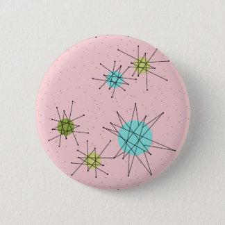 Bóton Redondo 5.08cm Botão redondo atômico icónico cor-de-rosa de