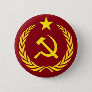 Bóton Redondo 5.08cm Botão redondo da bandeira comunista da guerra fria
