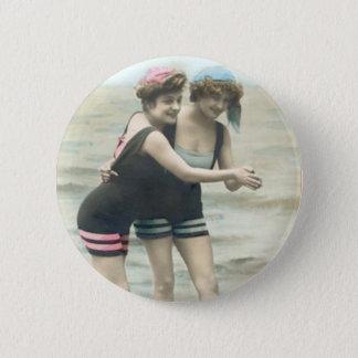Bóton Redondo 5.08cm Botão redondo da praia dos Bathers de Sun do