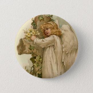 Bóton Redondo 5.08cm Botão redondo do anjo da páscoa do vintage