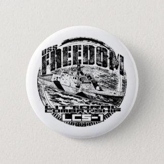 Bóton Redondo 5.08cm Botão redondo do botão da liberdade litoral do
