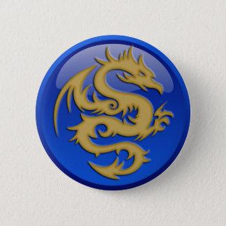 Bóton Redondo 5.08cm Botão redondo do dragão do ouro