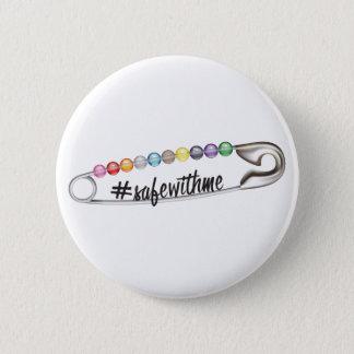 Bóton Redondo 5.08cm Botão redondo do #SafeWithMe