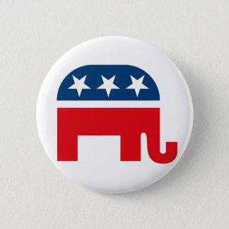 Bóton Redondo 5.08cm Botão republicano de Pinback do elefante