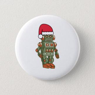 Bóton Redondo 5.08cm Botão retro do Pin do chapéu do papai noel do robô