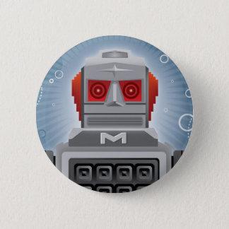 Bóton Redondo 5.08cm Botão retro do robô