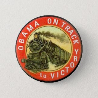 Bóton Redondo 5.08cm Botão retro do trem de Obama
