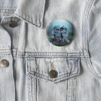 Bóton Redondo 5.08cm Botão ronco dos amantes