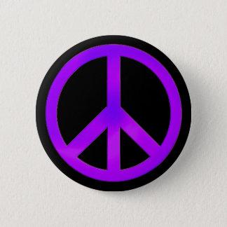 Bóton Redondo 5.08cm Botão roxo do símbolo de paz