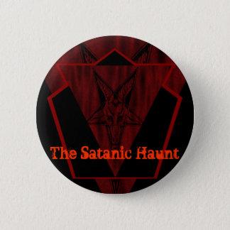 Bóton Redondo 5.08cm Botão satânico da assombração
