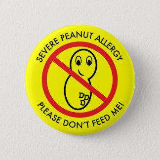 Bóton Redondo 5.08cm Botão severo da alergia do amendoim