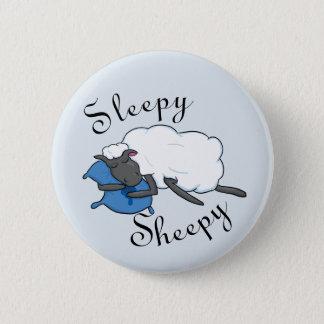 Bóton Redondo 5.08cm Botão sonolento de Sheepy
