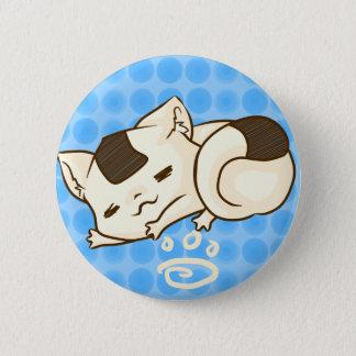 Bóton Redondo 5.08cm Botão sonolento do gato de Onigiri (azul)