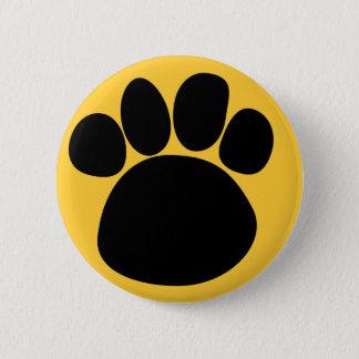 Bóton Redondo 5.08cm Botão traseiro 2 do Pin da trilha da pata do cão