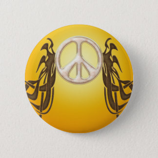 Bóton Redondo 5.08cm Botão velho da paz do Hippie