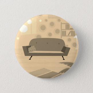 Bóton Redondo 5.08cm Botão velho dos desenhistas da sala de visitas