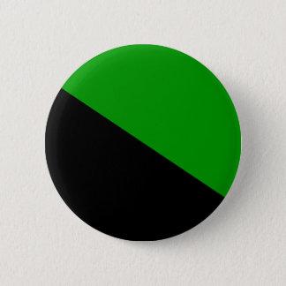 Bóton Redondo 5.08cm Botão verde da bandeira do anarquista