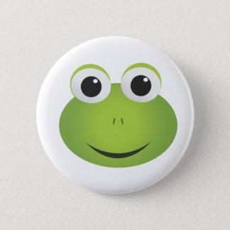 Bóton Redondo 5.08cm Botão verde do sapo dos desenhos animados