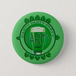 Bóton Redondo 5.08cm Botão verde dos trevos do Dia de São Patrício da