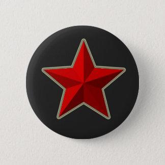Bóton Redondo 5.08cm Botão vermelho da estrela