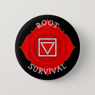 Bóton Redondo 5.08cm Botão vermelho de Chakra do qui da sobrevivência