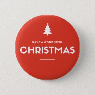 Bóton Redondo 5.08cm Botão vermelho do Natal