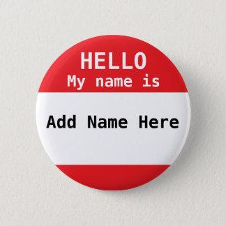 Bóton Redondo 5.08cm Botão vermelho personalizado do Nametag