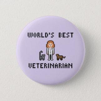 Bóton Redondo 5.08cm Botão veterinário fêmea do mundo do pixel o melhor