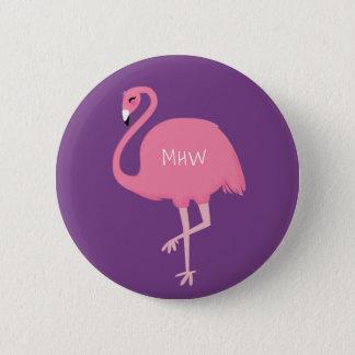 Bóton Redondo 5.08cm Botões bonitos do flamingo