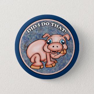 Bóton Redondo 5.08cm Botões bonitos do porco