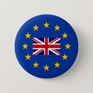 Bóton Redondo 5.08cm Botões BRITÂNICOS do pino do voto do brexit do