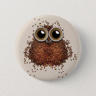 Bóton Redondo 5.08cm Botões da coruja do café
