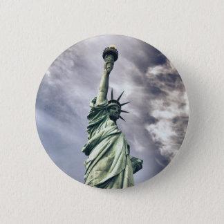 Bóton Redondo 5.08cm Botões da estátua da liberdade