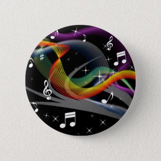 Bóton Redondo 5.08cm Botões da ilustração da música