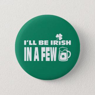 Bóton Redondo 5.08cm Botões do dia de St Patrick do divertimento do