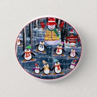 Bóton Redondo 5.08cm Botões do pinguim