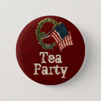 Bóton Redondo 5.08cm Botões do tea party da bandeira americana do