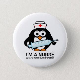 Bóton Redondo 5.08cm Botões engraçados dos cuidados com a enfermeira