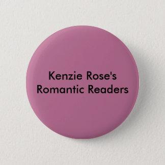Bóton Redondo 5.08cm Botões românticos do leitor do rosa de Kenzie