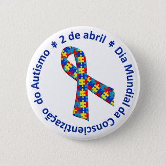 Bóton Redondo 5.08cm Bóton Conscientização do Autismo