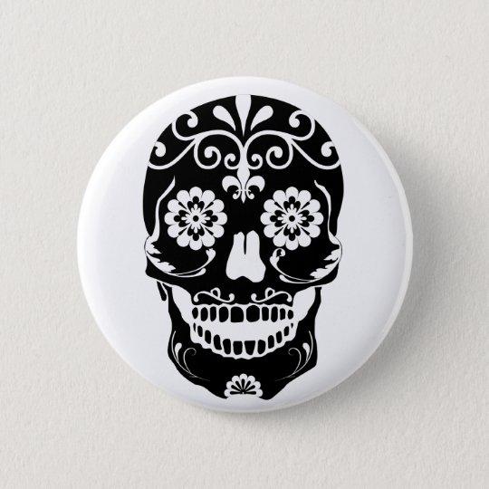 Bóton Redondo 5.08cm Bottom Sugar Skull
