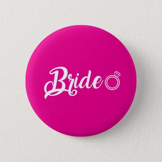 Bóton Redondo 5.08cm Botton Bride pink