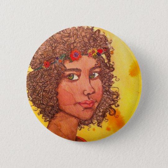 Bóton Redondo 5.08cm Botton Hippie Girl