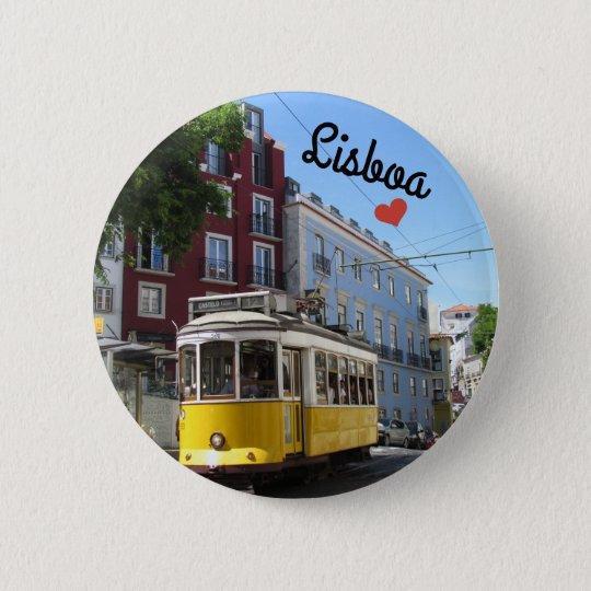 Bóton Redondo 5.08cm Botton / Pin ~ Lisboa, Portugal